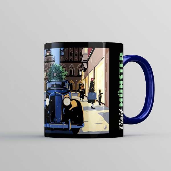 Tasse Wentrup - Weihnachtstasse dunkelblau