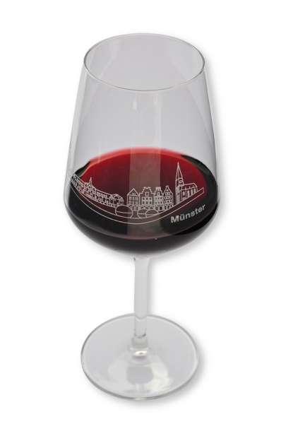 Rotweinglas - Skyline