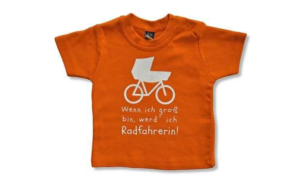 Baby T-Shirt - Wenn ich groß bin werd ich Radfahrer/in
