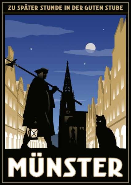 Postkarte Wentrup - Nachtwächtertour durch Münster