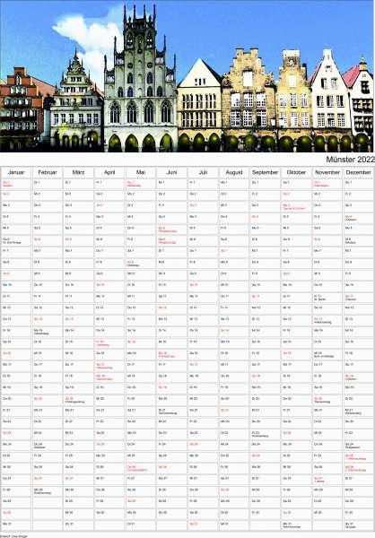 Jahresplaner Krüger - Münster Kalender 2022