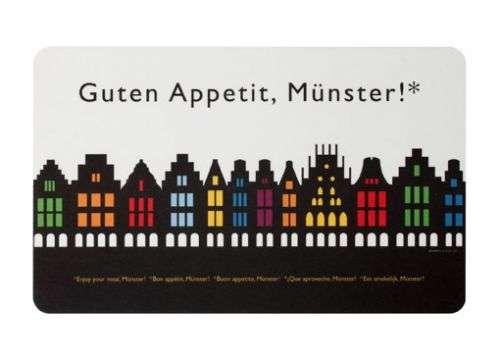 Frühstücksbrettchen Stadtbummler - Guten Appetit, Münster!