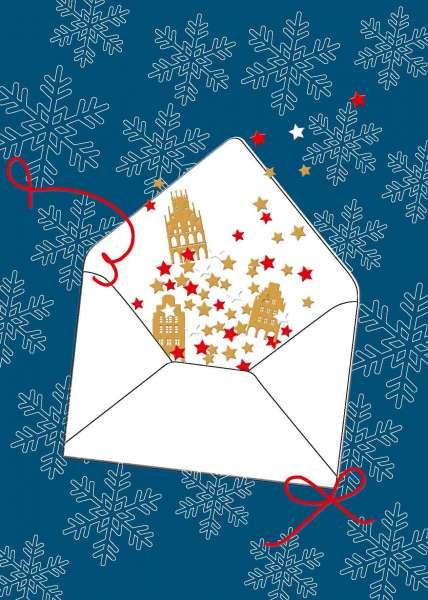 Postkarte Briefumschlag Weihnachten mmm