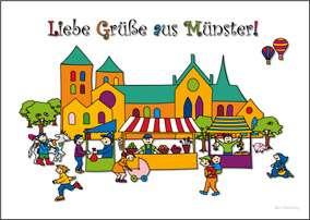 Postkarte JHD - MuKKi Markt