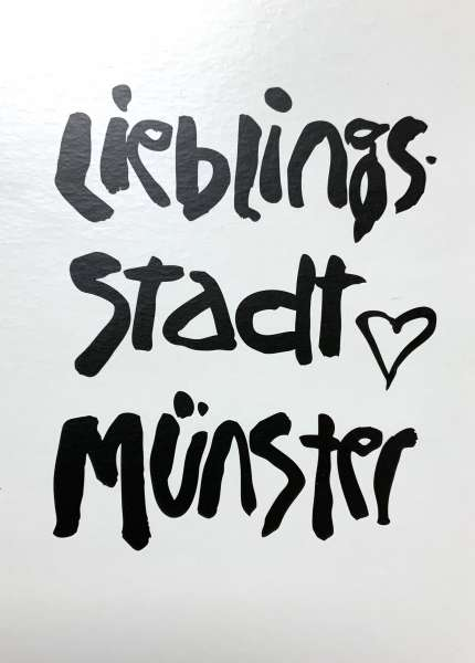 Postkarte Ottenjann - Lieblingsstadt Münster