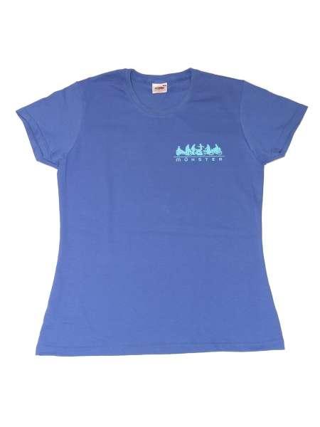 Damen T-Shirt JHD - Radfahrer blau