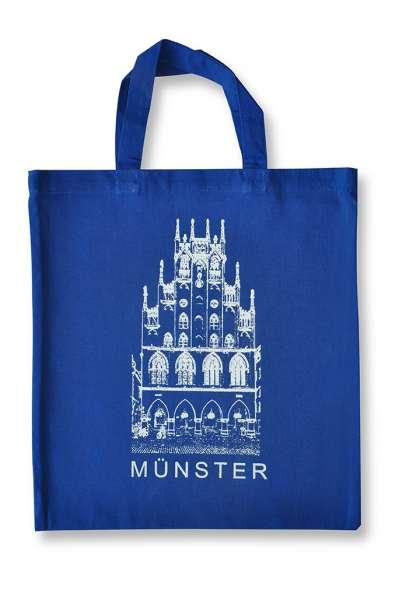 Einkaufsbeutel blau mit Rathaus silber - Kerler