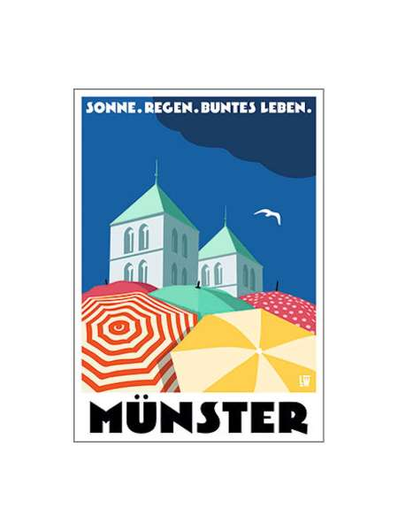 Postkarte Wentrup - Sonne, Regen, buntes Leben in Münster