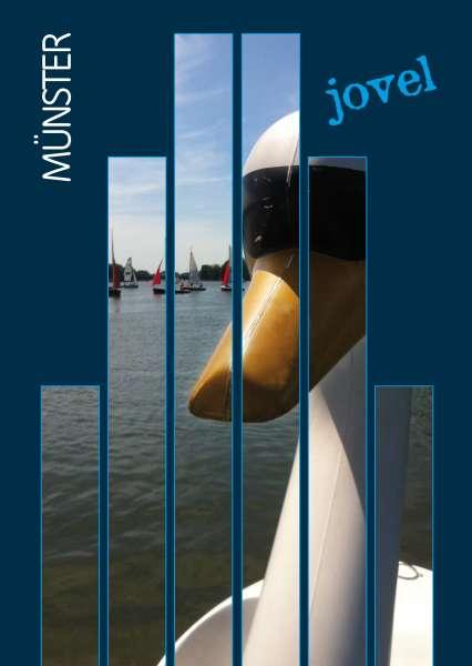Postkarte #Schwanentretboot mmm