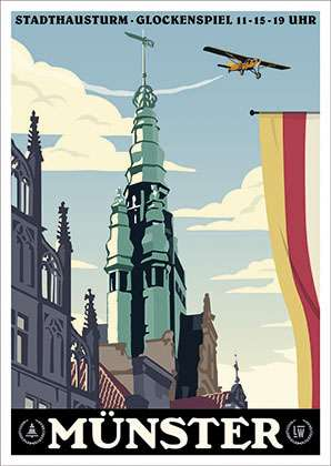 Postkarte Wentrup - Stadtturm Münster