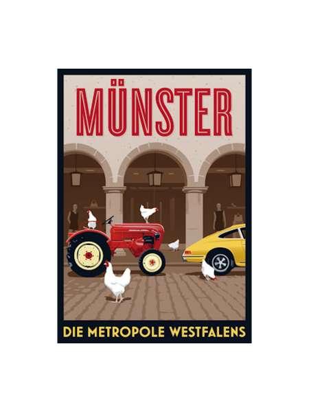 Postkarte Wentrup - Metropole Münster Trecker