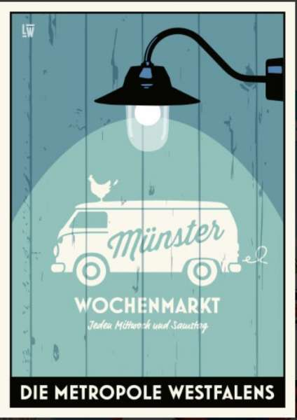 Postkarte Wentrup - Wochenmarktbulli