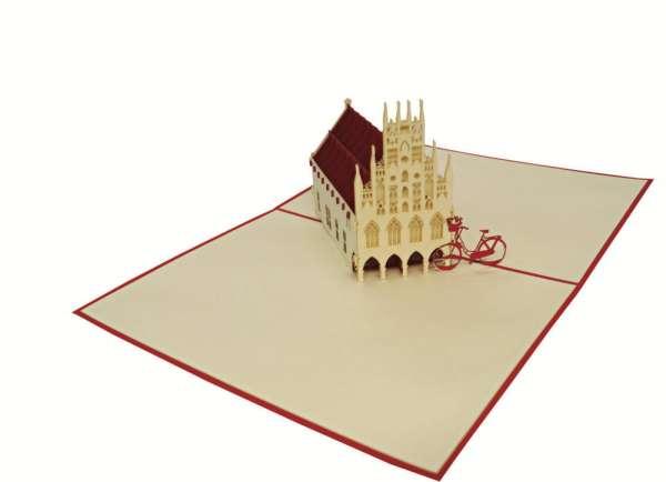 3D Pop-up Karte - Historisches Rathaus Münster