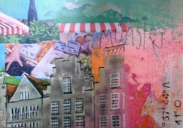 Postkarte klein Ottenjann - Markt rosa