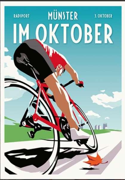 Postkarte Wentrup - Radsport