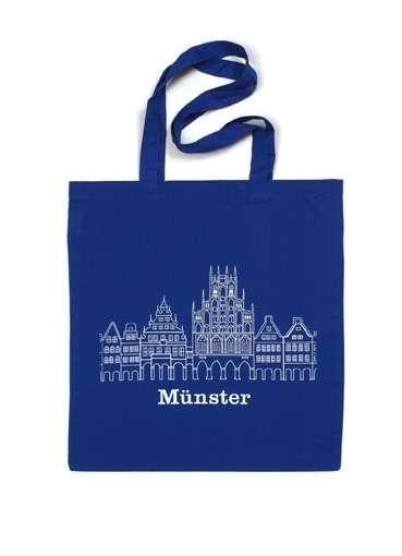 Stoffbeutel - Rathaus blau