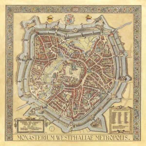 Alerdinck Plan - Historische Karte Münster 1636