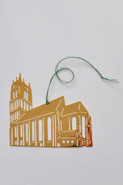 Christbaum-Anhänger Überwasserkirche vergoldet