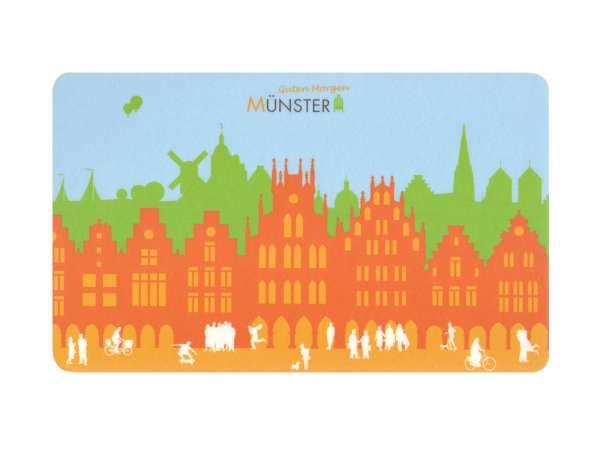 Frühstücksbrettchen JHD - Münster Skyline orange