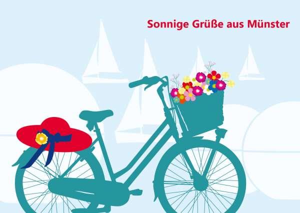 Postkarte - Fahrrad_Aasee mmm