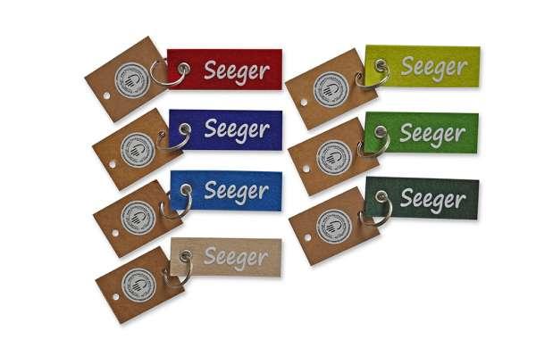 Filzschlüsselanhänger - klein/flach - Seegers