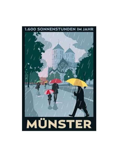 Postkarte Wentrup - Regen und Glocken