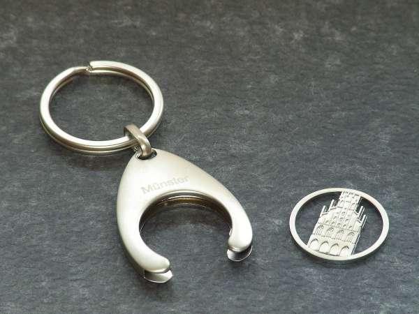Schlüsselanhänger mit Einkaufswagen-Chip - Rathaus
