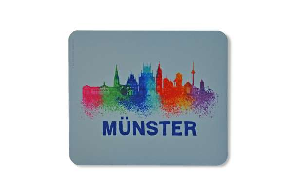 Mousepad - Münster Skyline bunt