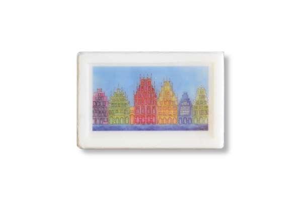Seife Bockstette - Giebelhäuser blau