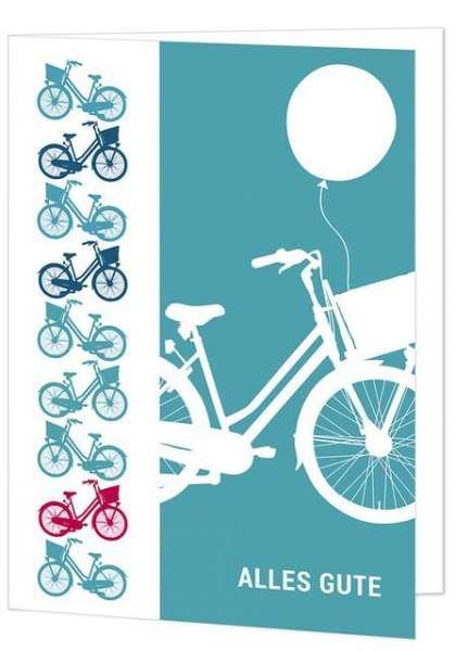 Klappkarte Fahrrad - alles Gute mmm