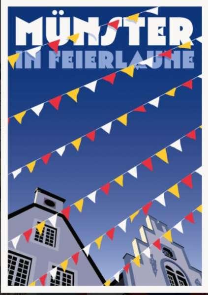 Postkarte Wentrup - Münster in Feierlaune