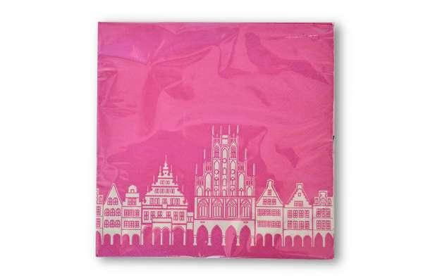 Papierservietten - Prinzipalmarkt Münster pink