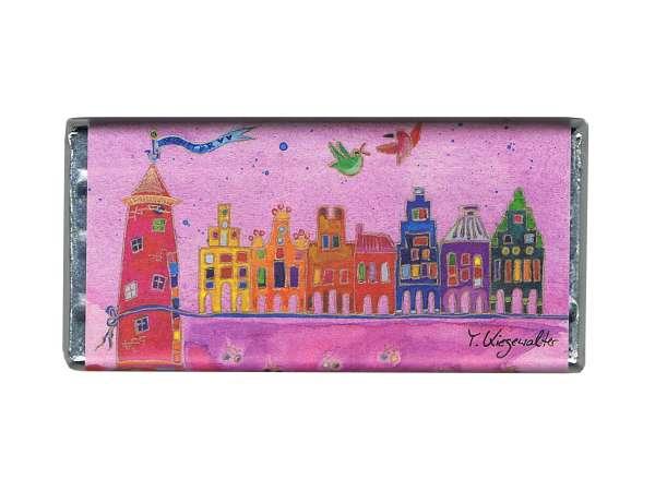Vollmilchschokolade Kiesewalter - Münsters Buddenturm pink