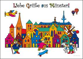 Postkarte JHD - MuKKi Münster