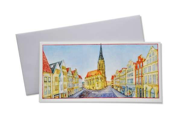 Klappkarte Lambertikirche und Giebelhäuser - Thrän