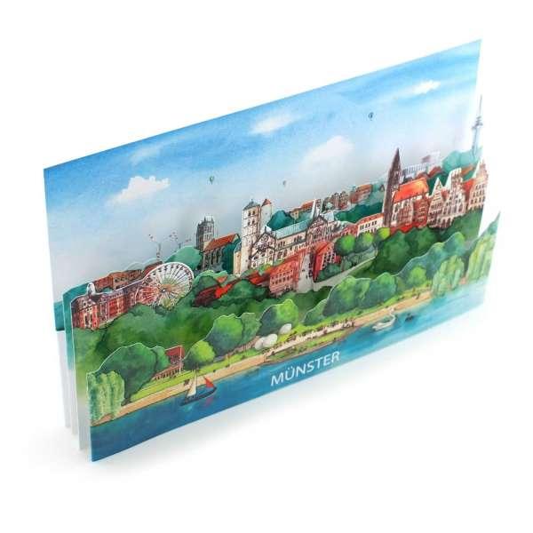 3D Aufstellbare Städtekarte – Münster