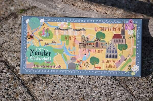 Münsteraner Glücksschoki Maps - Vollmilchschokolade Atregio