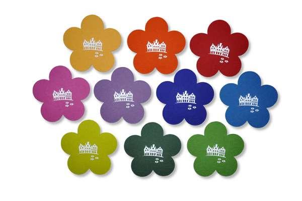 Filzuntersetzer - Blume - Giebelhäuser