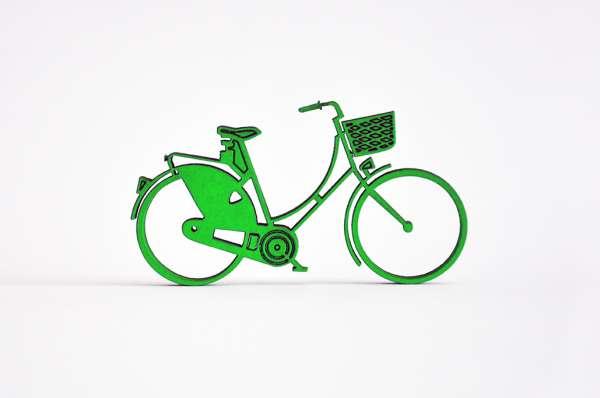 3D Deko Fahrrad Damenrad mit Korb NoGallery