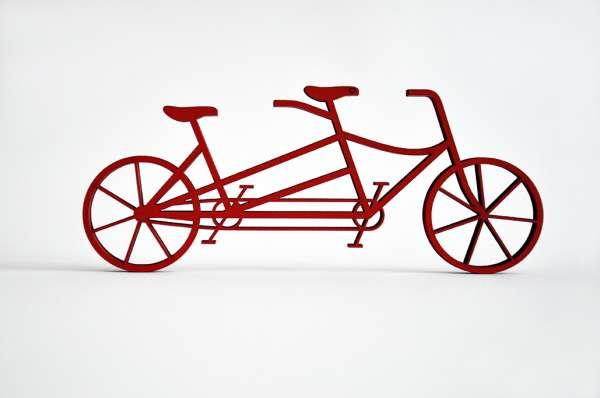 3D Deko Fahrrad Tandem NoGallery
