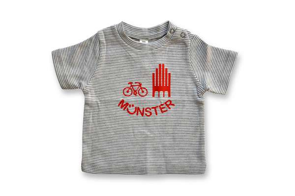 Kinder T-Shirt geringelt Montag