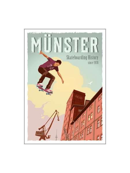Postkarte Wentrup - Skateboarding History Münster