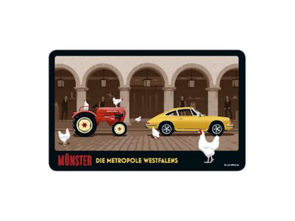 Frühstücksbrettchen Wentrup - Porsche Trecker aus Westfalen