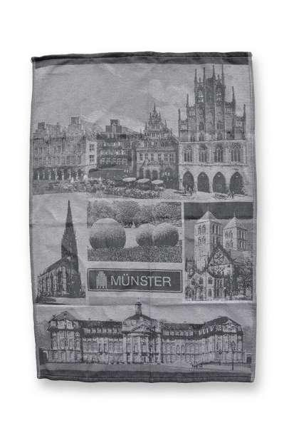 Geschirrtuch - grau - Münster Motive
