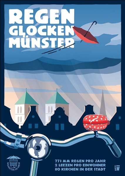 Postkarte Wentrup - Fahrradlenker in Münster