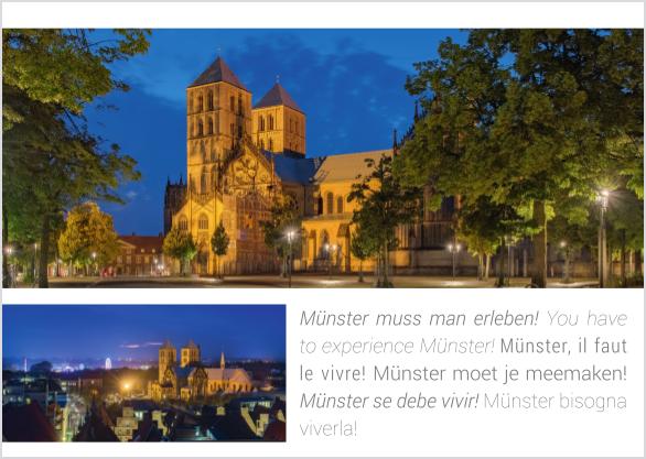 Postkarte Dom zur Blauen Stunde mmm