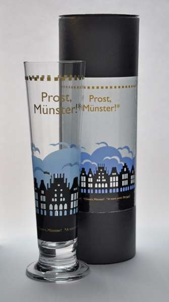 Bierglas Stadtbummler - Prinzipalmarkt blau