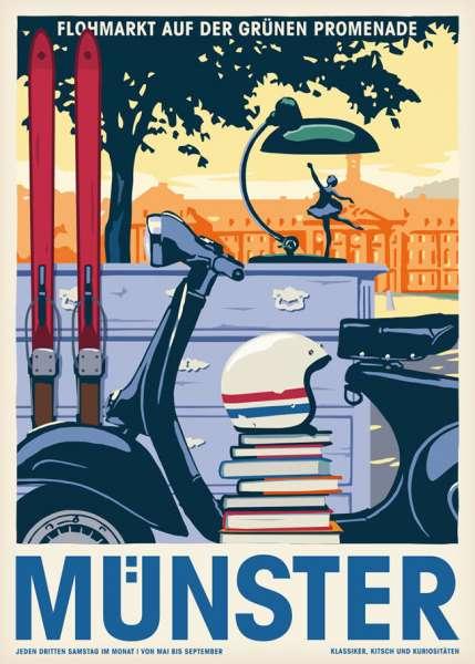 Poster Wentrup - Flohmarkt in Münster