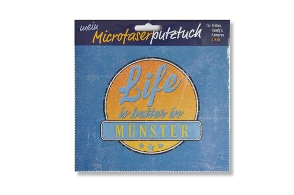 Brillenputztuch - life is better in Münster
