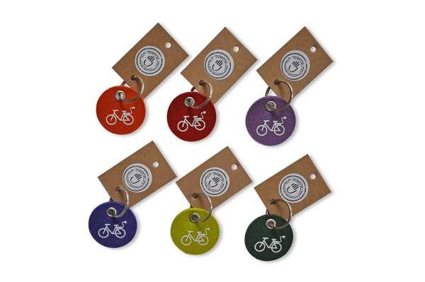 Filz-Schlüsselanhänger - rund - E-Bike